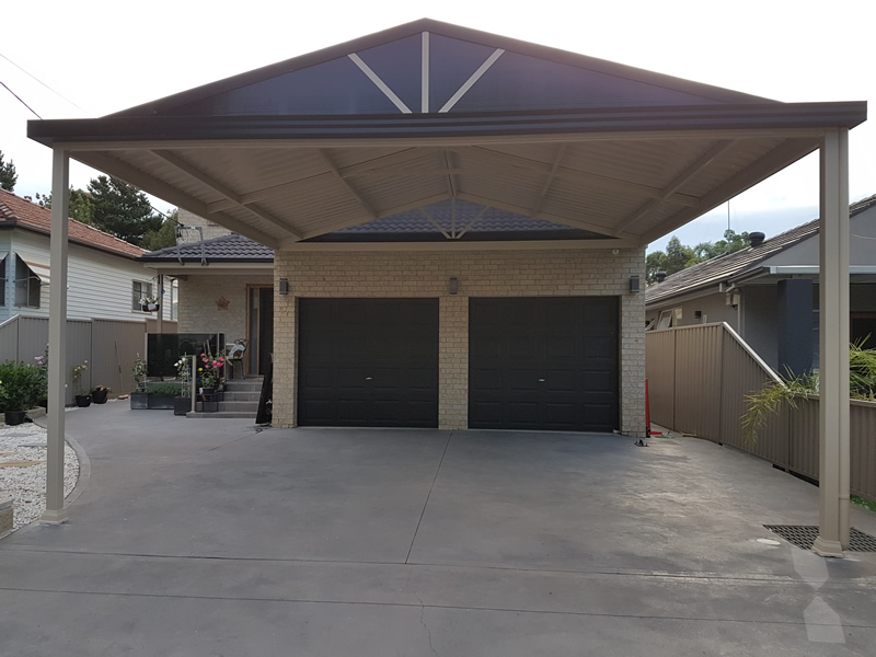 Gable carport at bass hill cnc home additions for Gable carport prices