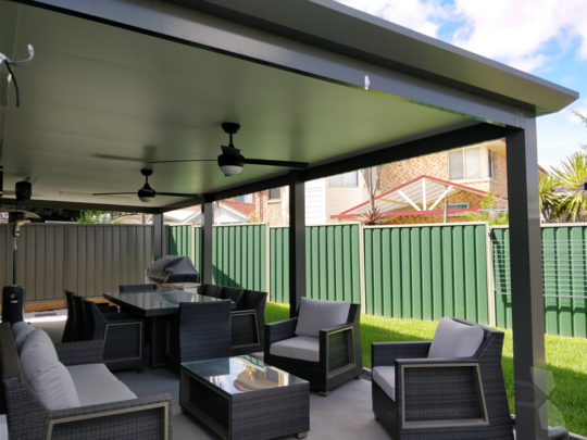 Skillion Insulated Patio Roof At Quakers Hill Cnc Home