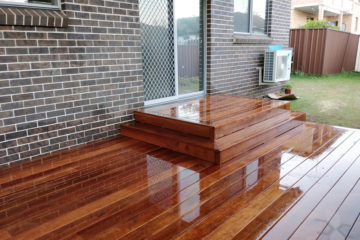 Merbau Timber Deck at Condell Park
