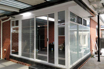Sunroom with translucent glass at Fairfield