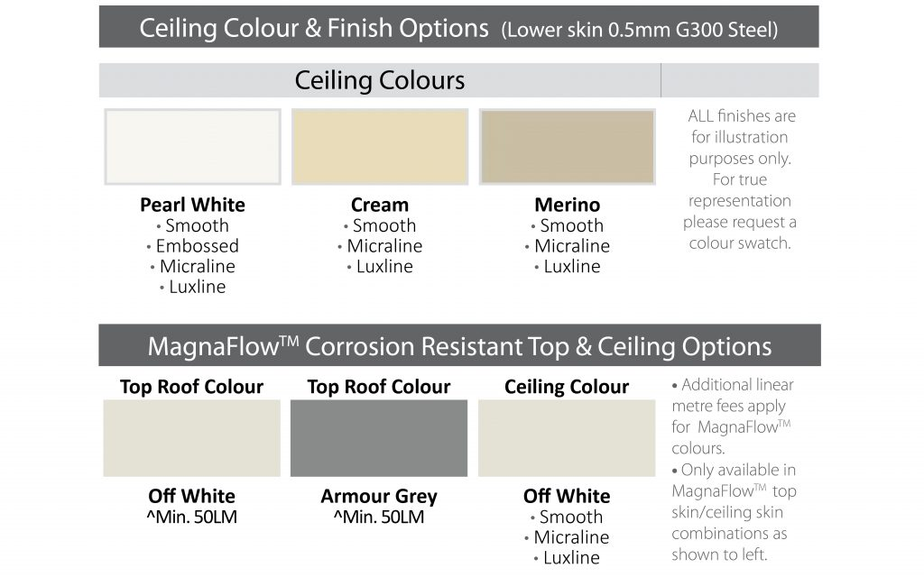 spacemaker ceiling colours